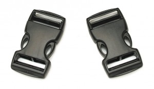 Snap-lock buckles are featured with no straps.